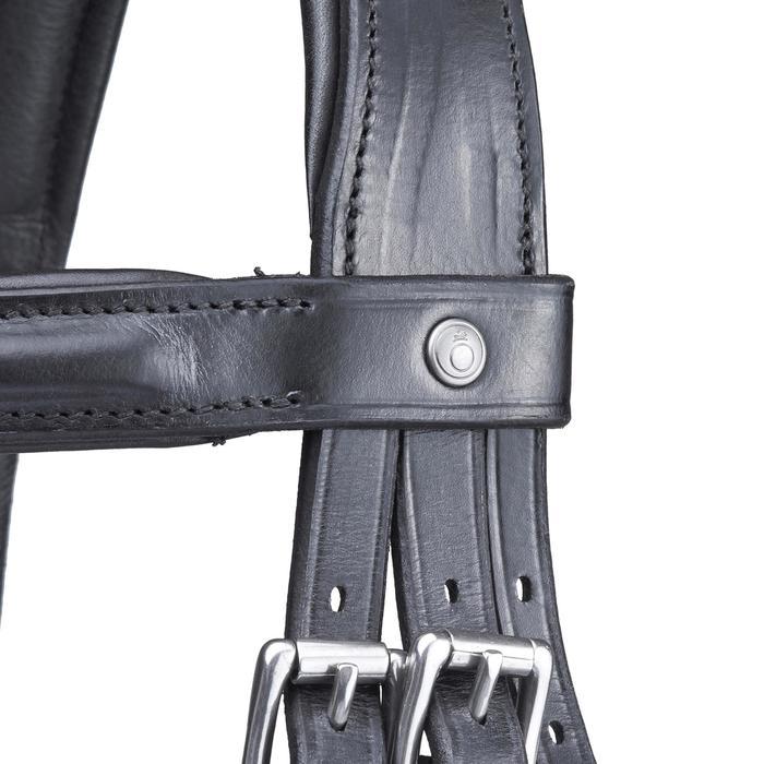 Hoofdstel ruitersport maat paard Pull Back zwart