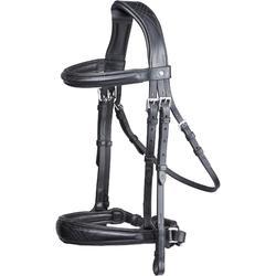 Bridon équitation PULL BACK noir - taille cheval