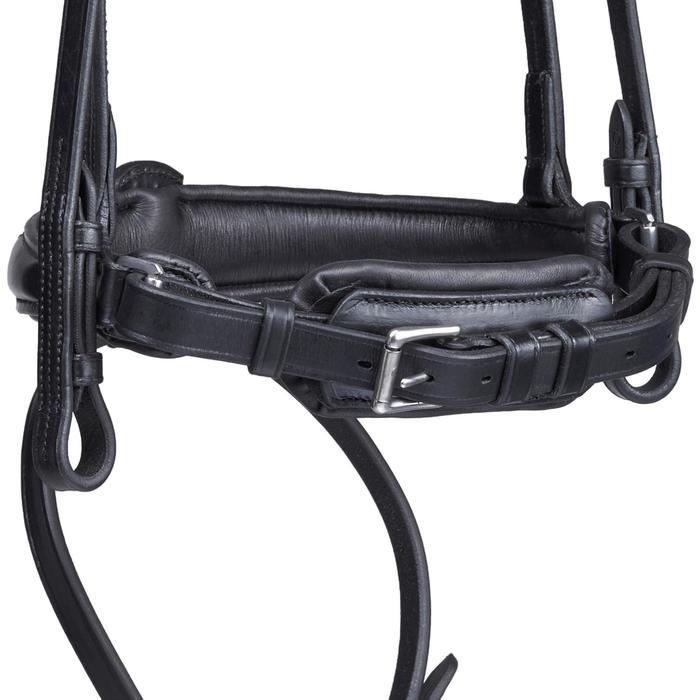 Bridón equitación caballo PULL BACK negro