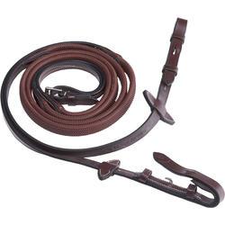 Rênes équitation 900 marron - taille cheval