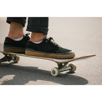 Zapatillas Bajas Skateboard Longboard OXELO Adulto VULCA 500 Negro