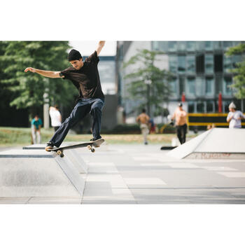 Chaussures basses de skateboard adulte VULCA 500 noire / gomme