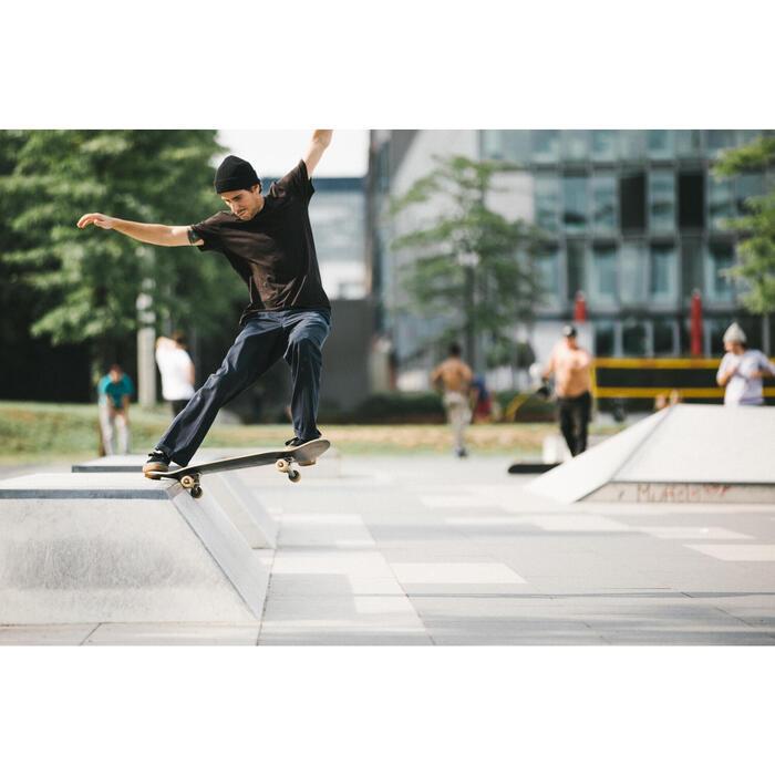 Chaussures basses de skateboard adultes VULCA 500 crème