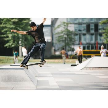 Chaussures basses de skateboard adultes VULCA 500 noire - 1348345