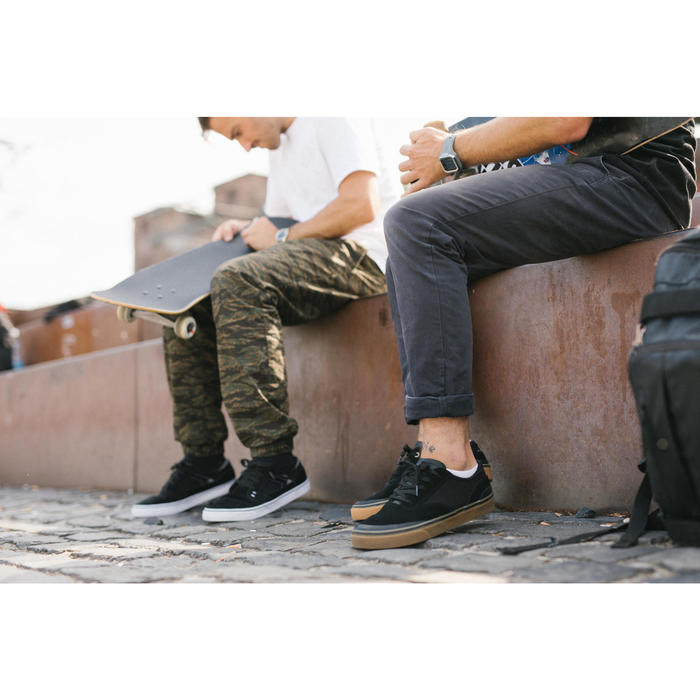 Chaussures basses de skateboard adultes VULCA 500 noire - 1348347