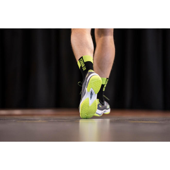 Chaussures de Handball H500 adulte noires et rouges - 1348383
