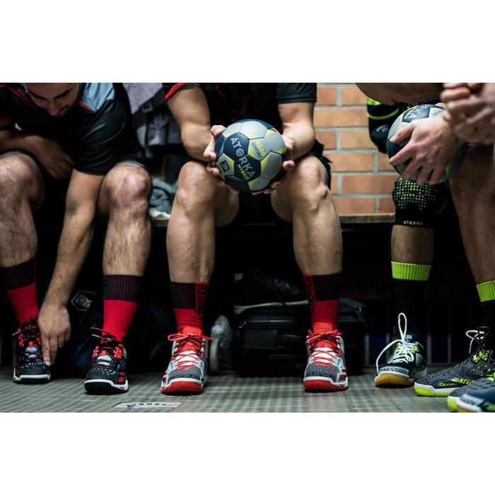 Chaussures de Handball H500 adulte noires et rouges - 1348398