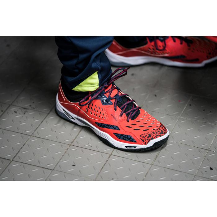 Chaussures de Handball H500 adulte noires et rouges - 1348413
