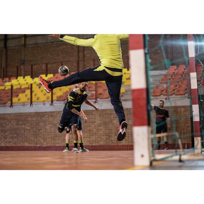 Chaussures de Handball H500 adulte noires et rouges - 1348429