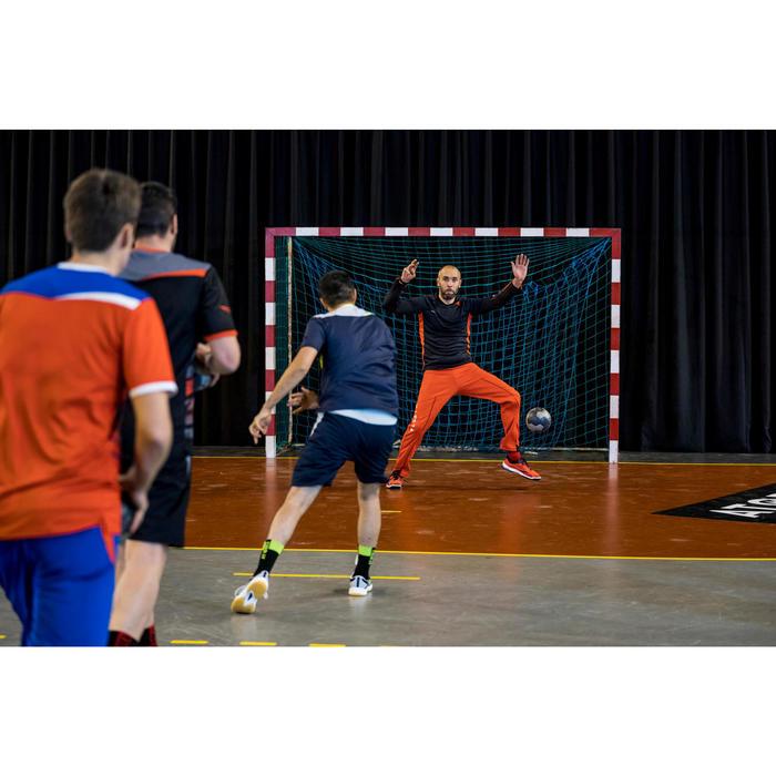 Torwarttrikot H500 Handball Erwachsene schwarz/rot