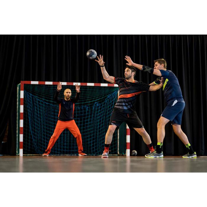 Chaussettes de handball H500 noires et vertes - 1348436