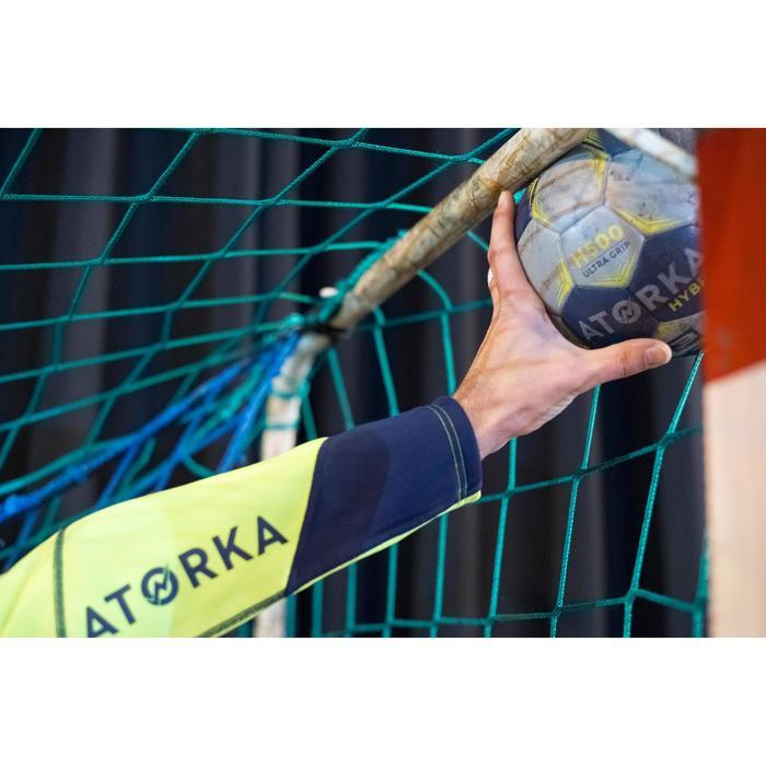 Sudadera de Portero de Balonmano Atorka H500 Adulto Azul marino Amarillo