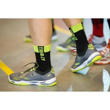Chaussettes de handball H500 noires et vertes - 1348447