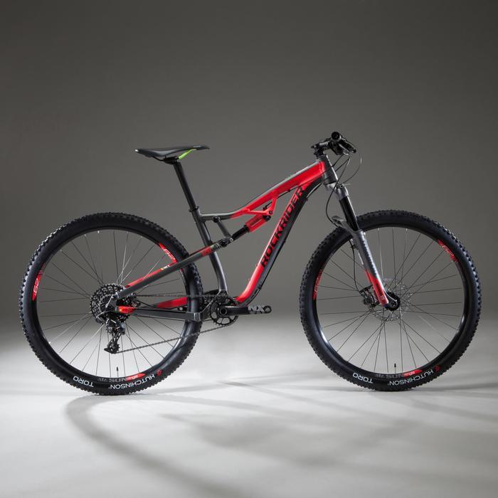 """Mountainbike XC 100 S 29"""" schwarz/rot"""
