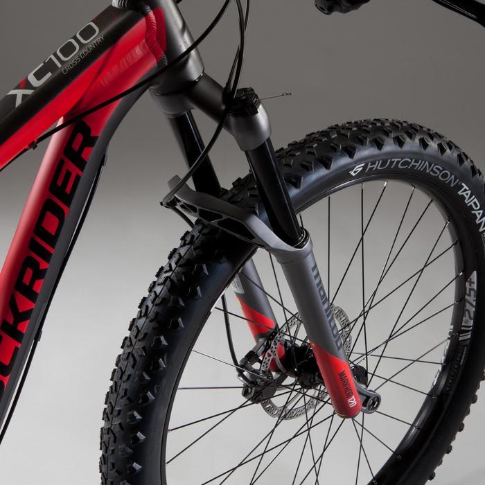"MTB XC 100 S 27,5"" PLUS zwart/rood"