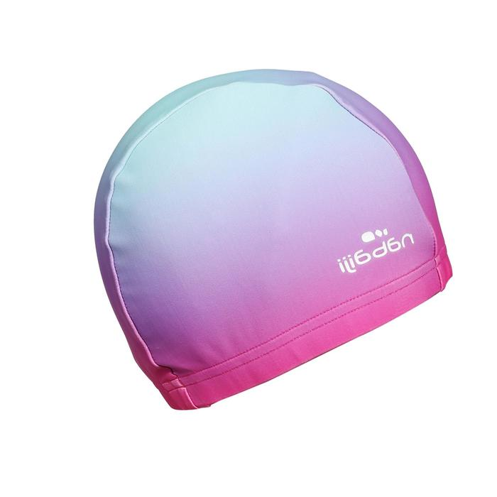 Mesh Swim Cap Size L SKY PINK Print