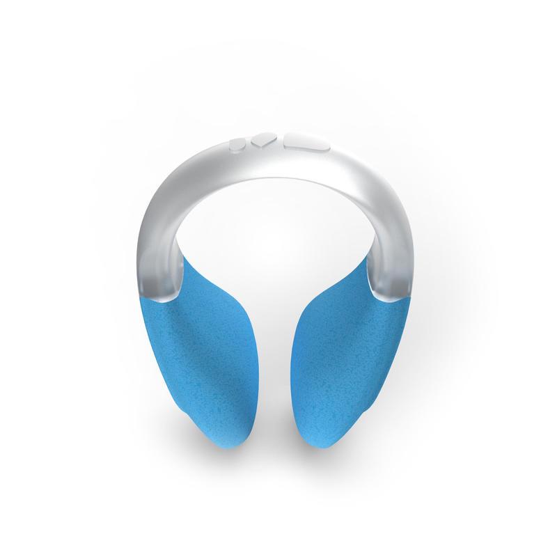 Pinza de nariz flotante de natación azul