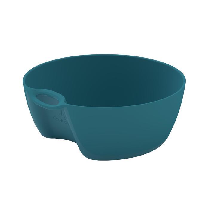 Bol camp du randonneur MH100 plastique bleu (0,45 litre) - 1348745