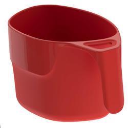 Taza campamento itinerante MH100 plástico rojo (0,25 litro)