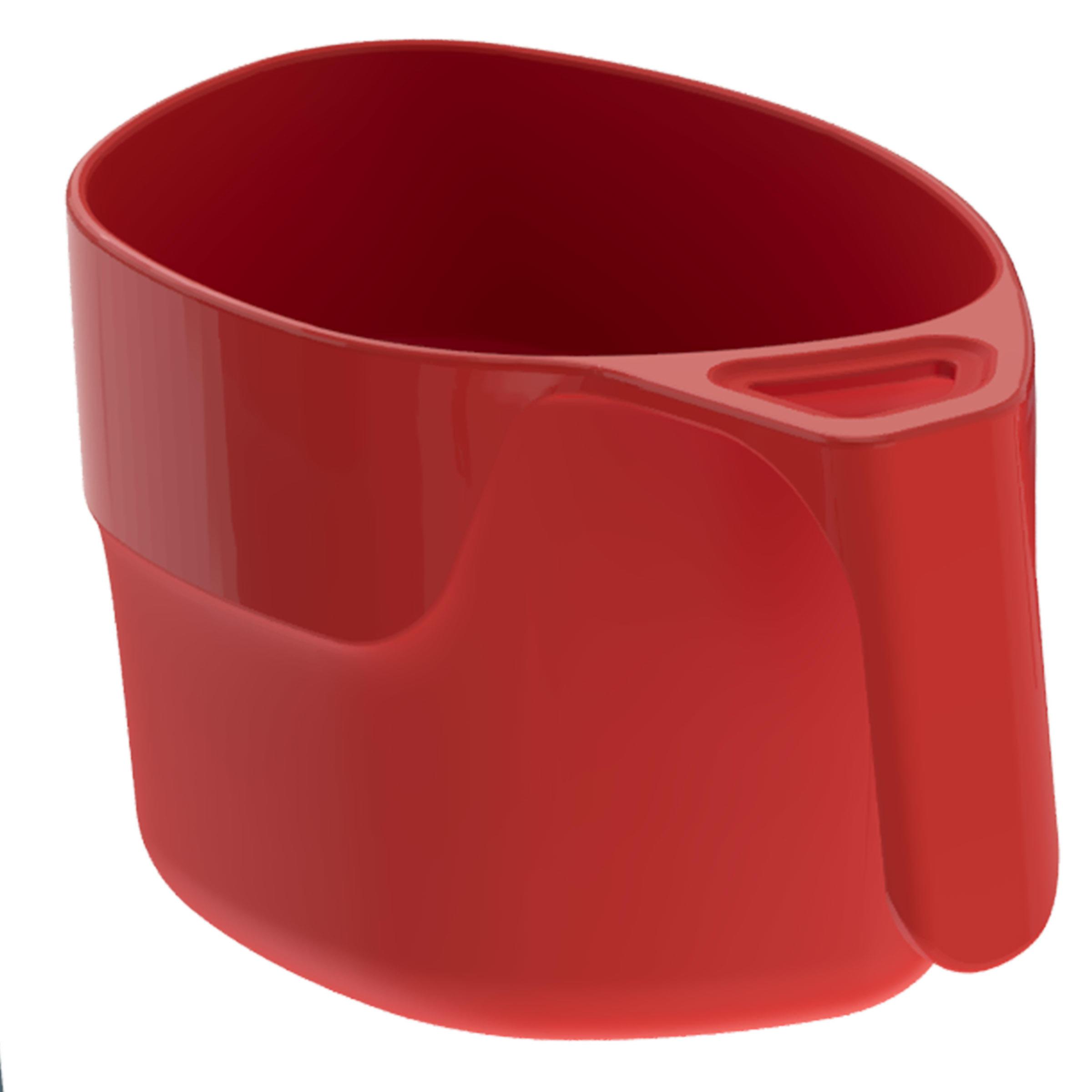 Taza de campamento del senderista MH100 de plástico rojo (0,25 litros)
