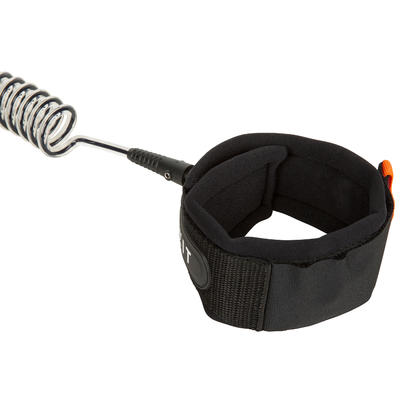 SPIRAL KNEE LEASH STAND-UP PADDLE BLACK (0.5 M to 2.8 M)