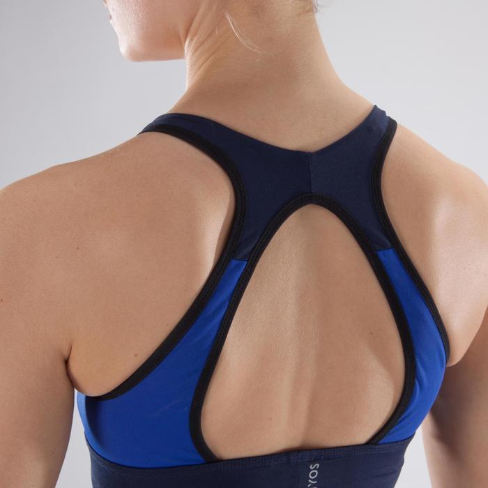Brassière fitness cardio-training femme noire 120 - 1349168