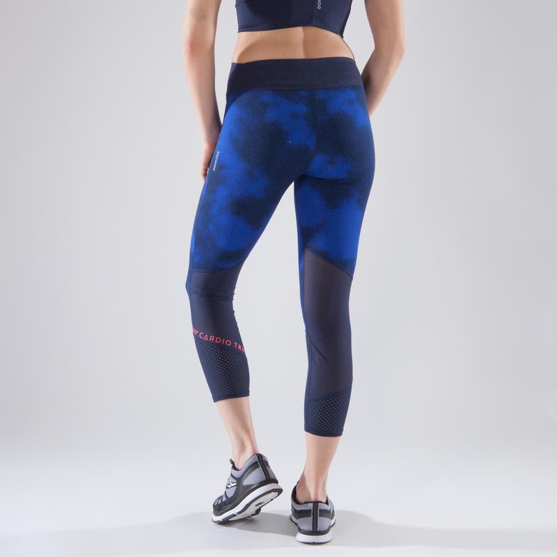 deabb9831d 900 Women's 7/8 Cardio Fitness Leggings - Blue Print