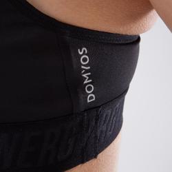 Sport-Bustier 520 Cardio-/Fitnesstraining Damen schwarz