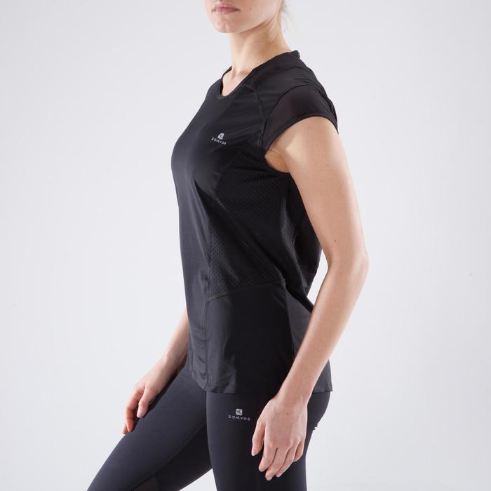Camiseta cardio fitness mujer negro 900