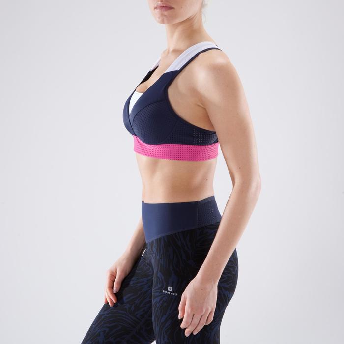 Brassière fitness cardio-training femme noire 900 - 1349187