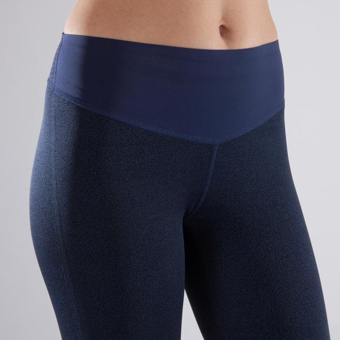 Legging fitness cardio-training femme à imprimés bleus 900