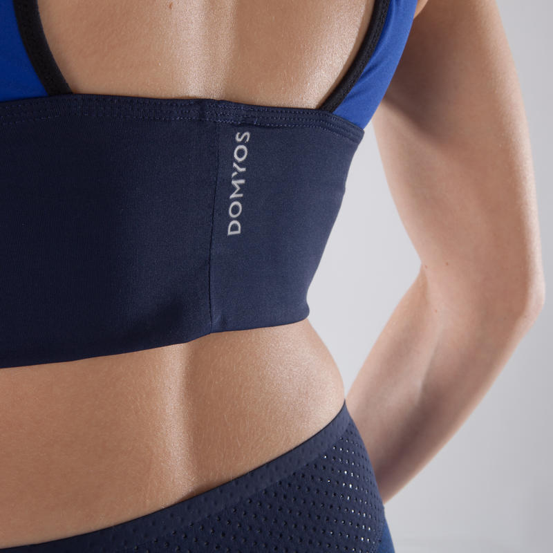 120 Women's Cardio Fitness Sports Bra - Blue