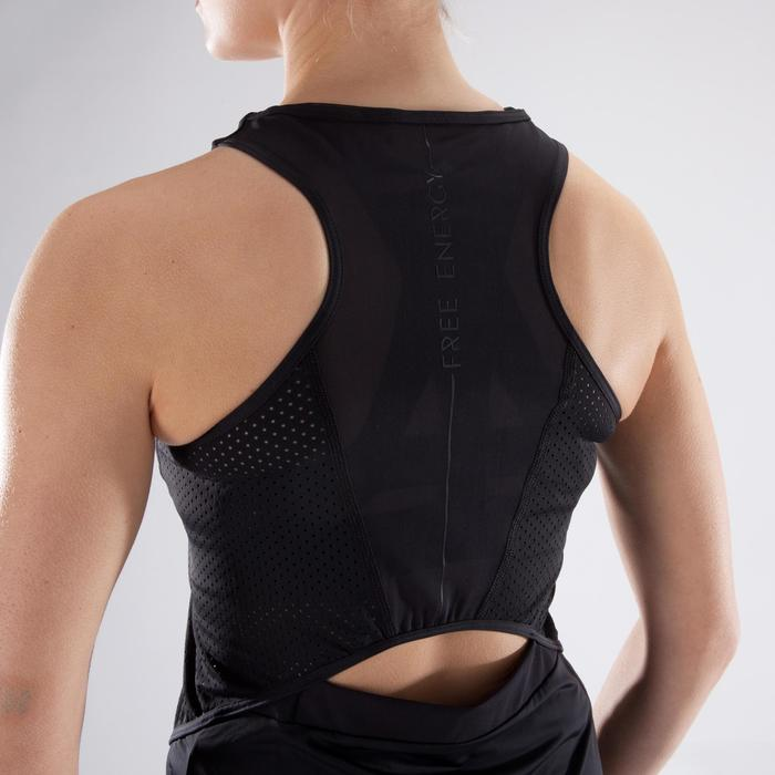 Débardeur fitness cardio-training femme noir 900