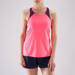 Camiseta sin mangas tirantes Cardio Fitness Domyos 500 mujer rosa
