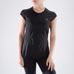 Camiseta manga corta Cardio Fitness Domyos 900 mujer negro