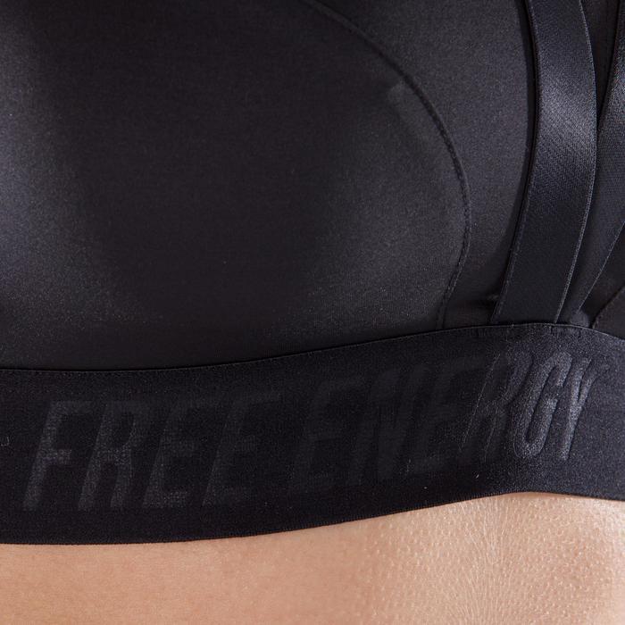 Brassière fitness cardio-training femme noire 500