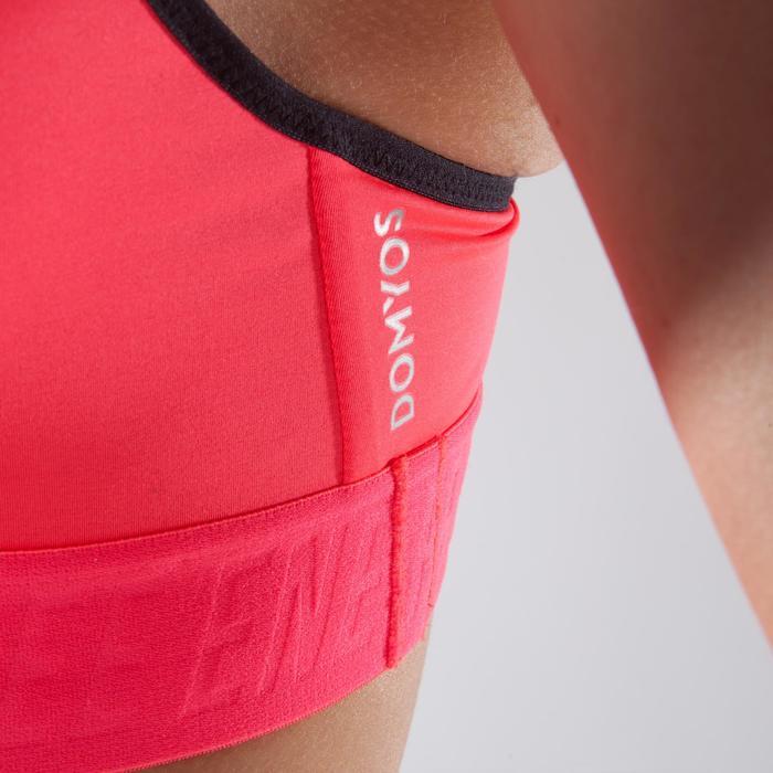 Brassière fitness cardio-training femme corail 500