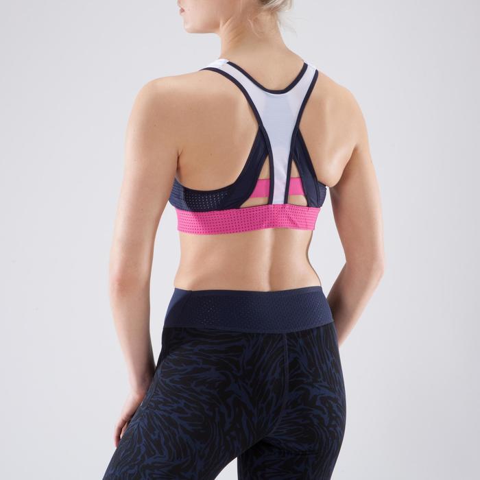 Brassière fitness cardio-training femme noire 900 - 1349265