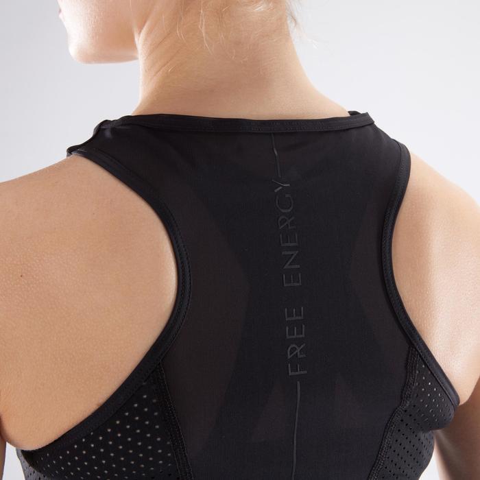 女款有氧健身運動背心900 - 黑色