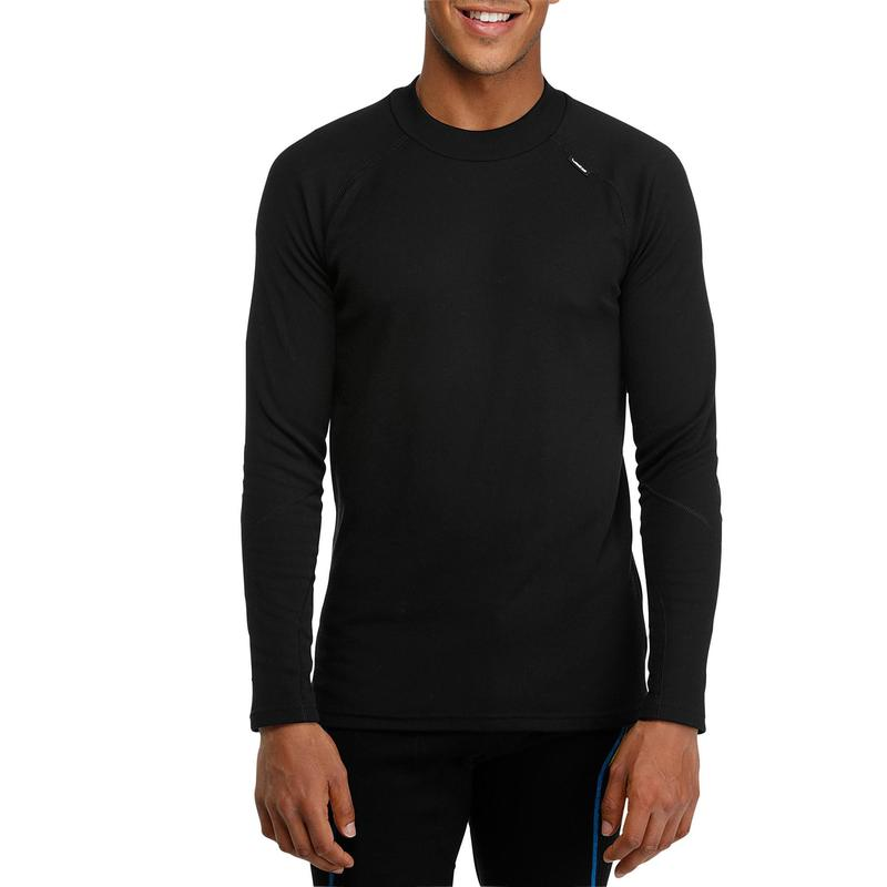 0c7f4a9a1 Men's Skiing Base Layer top 100 - black   Wedze