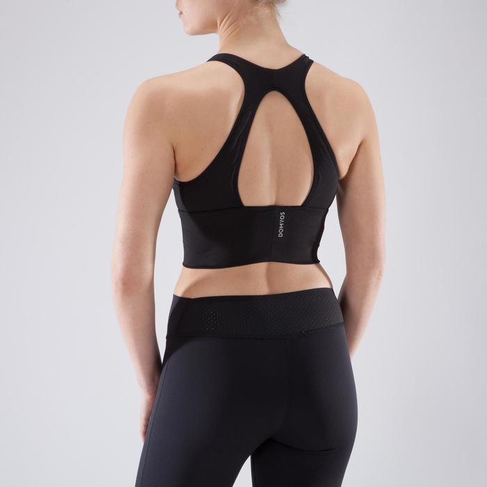 Sujetador-top cardio fitness mujer negro 120