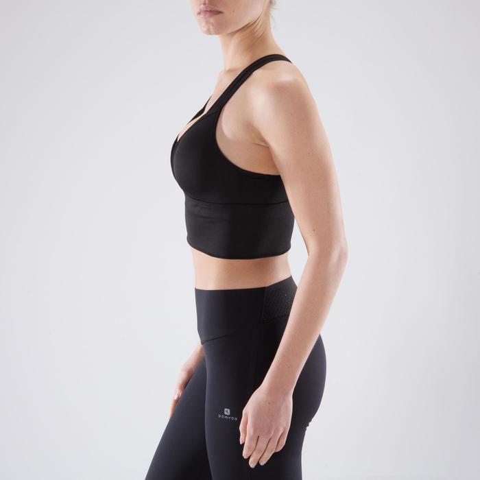 Brassière fitness cardio-training femme noire 120 - 1349319