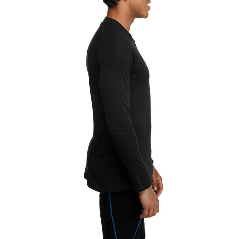 เสื้อตัวในผู้ชายเพื่อการเล่นสกีรุ่น 100 (สีดำ)