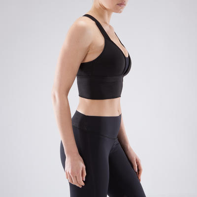 120 Women's Cardio Fitness Sports Bra - Black