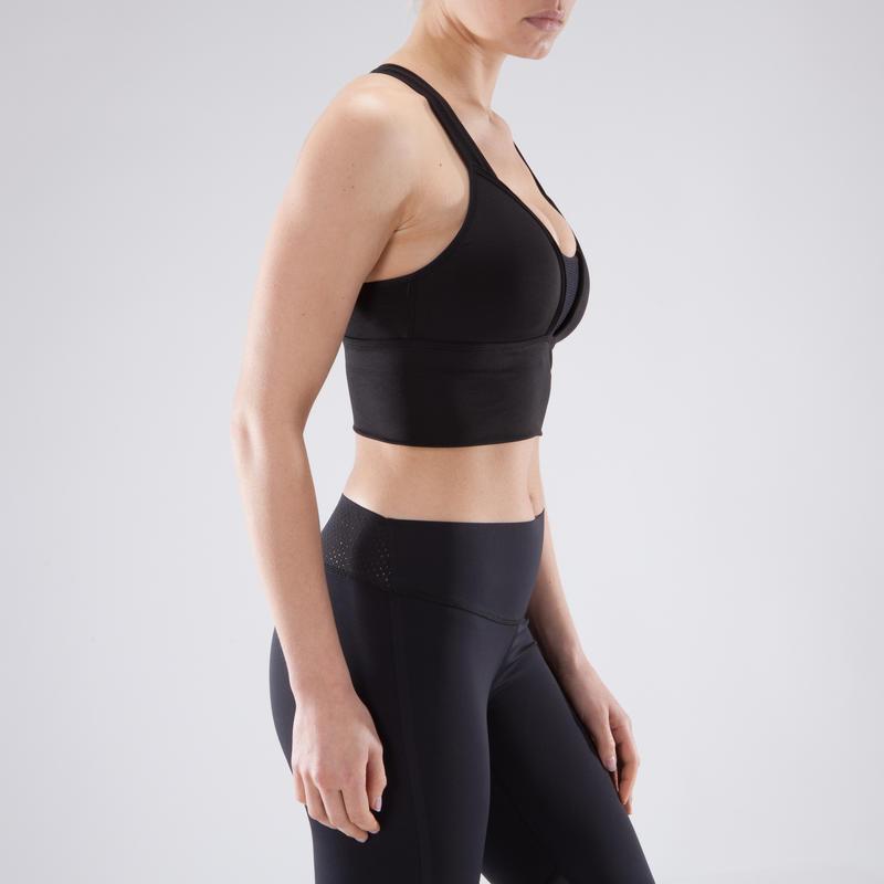 120 Women's Cardio Fitness Sports Bra - Black