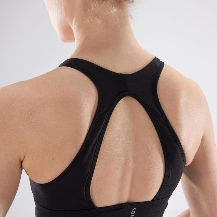 Brassière fitness cardio-training femme noire 120 - 1349328