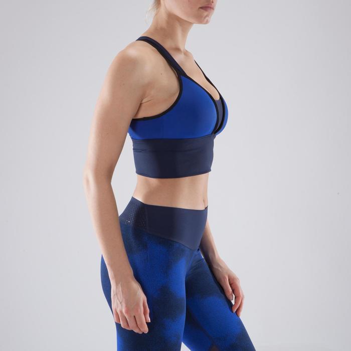 Brassière fitness cardio-training femme noire 120 - 1349331