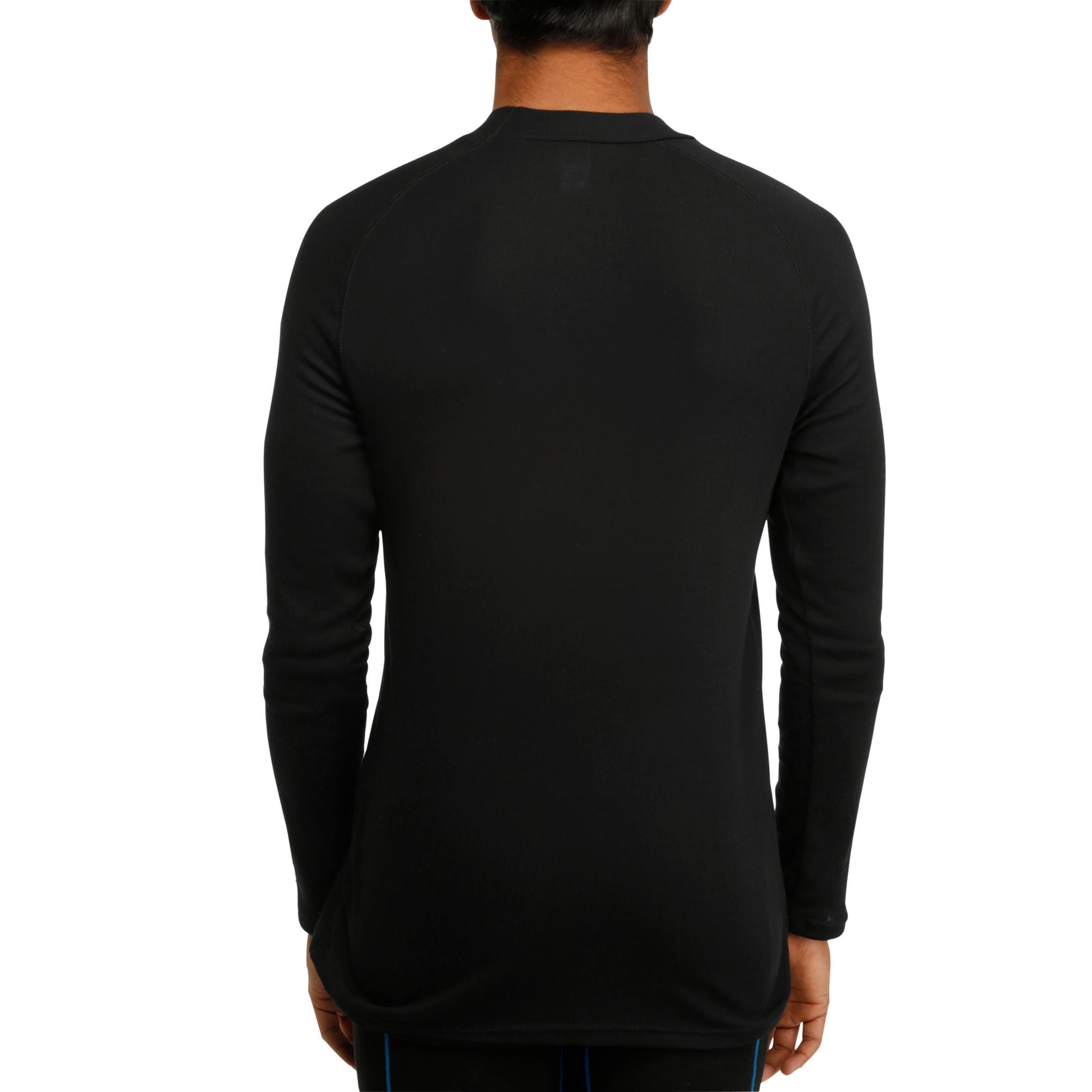 เสื้อตัวในเพื่อการเล่นสกีสำหรับผู้ชาย Simple Warm (สีดำ)