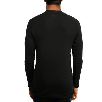 Camiseta interior de esquí hombre 100 negra