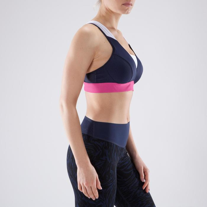 Brassière fitness cardio-training femme noire 900 - 1349352